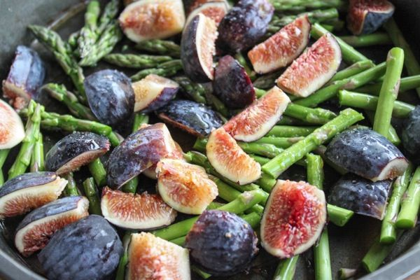 fig, goat cheese and asparagus salad   healthier recipes   Pinterest ...