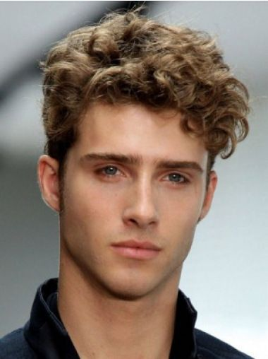 No Fuss Brown Wavy Short Men Wigs In 2018 Guys Haircut Pinterest