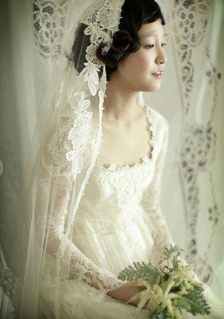 ヴィンテージ風でクラシカルに憧れる : 私に似合うのはどのタイプ?ウェディングドレスの選び方 - NAVER まとめ