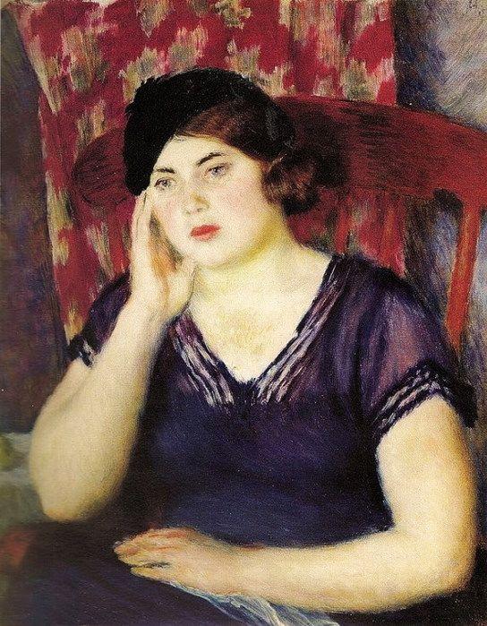 Портрет женщины, поздняя работа (544x700, 133Kb)