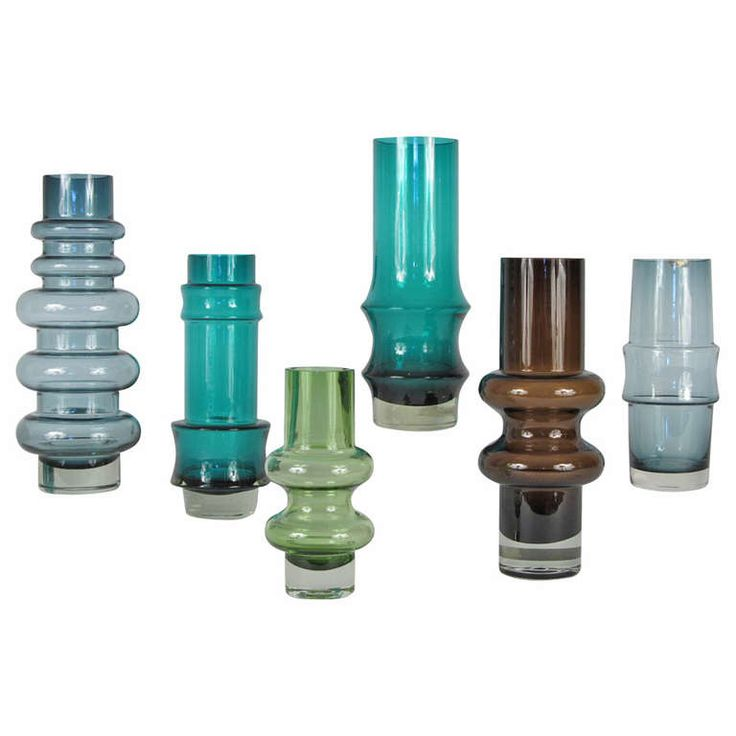 Collection of Six Finnish Vases by Tamara Aladin