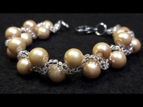 Hermoso y Fácil Collar de Perlas y Cristales...Clase #42!!! - YouTube