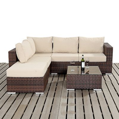 Home Etc Prestige 4 Seater Garden Sofa Set with Table & Cushions &…