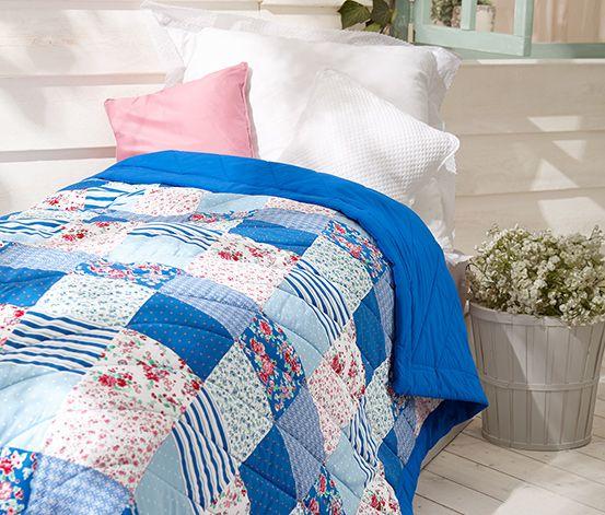 Oboustranný patchwork přehoz na postel
