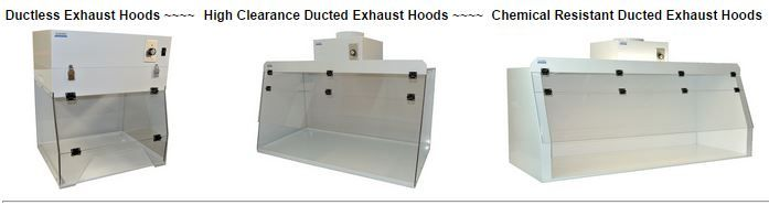 Protect your lab by using a better exhaust fume hood (Ductless OR Ducted) - Activated charcoal filters allow safe indoor release of exhaust while HEPA / ULPA filters provide clean and particle-free environment. Get a free consultation! - Find out more! > http://www.globallabsupply.com/Exhaust_Fume_Hoods_s/1864.htm
