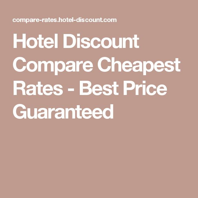 Hotel Discount Compare Cheapest Rates - Best Price Guaranteed