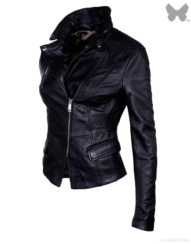 17 Best ideas about Ladies Black Leather Jacket on Pinterest ...