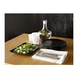 IKEA - DINERA, Bord, Ook te gebruiken als serveerschaal.Met de eenvoudige vormen, zachte kleuren en matte glans creëer je met dit servies een rustiek gedekte tafel.