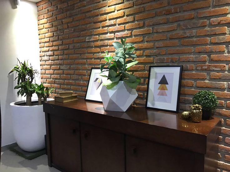 Arte geométrico, maceta geométrica planta interior #valeriadeandadecor