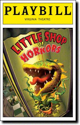 Playbill Cover for Little Shop of Horrors at Virginia Theatre - Opening Night, Aug 2003