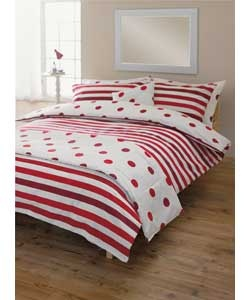 Buy Living Spots and Stripes Red Bed in a Bag - Kingsize at Argos.co.uk