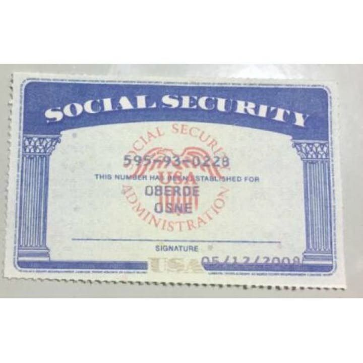 Social Security Number Documents Producer In 2021 Id Card Template Social Security Card Certificates Online
