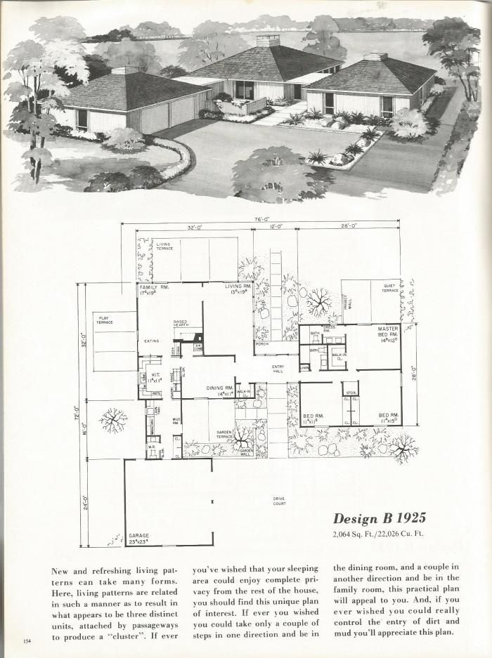 17 best images about mid century floor plans on pinterest for 1960 ranch house plans