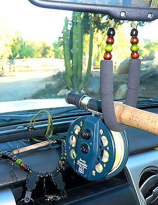 Fly Fishing Rod Holder for rear view mirror, fly fishing lanyard