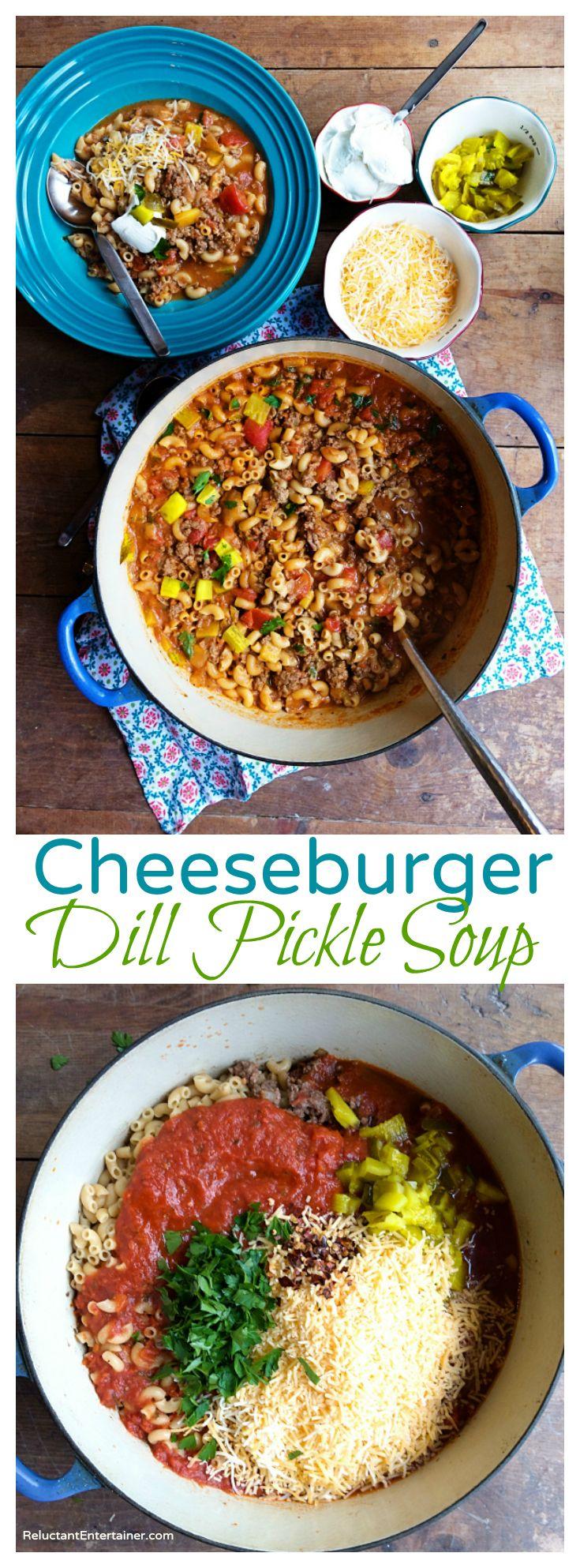 Cheeseburger Dill Pickle Soup Recipe
