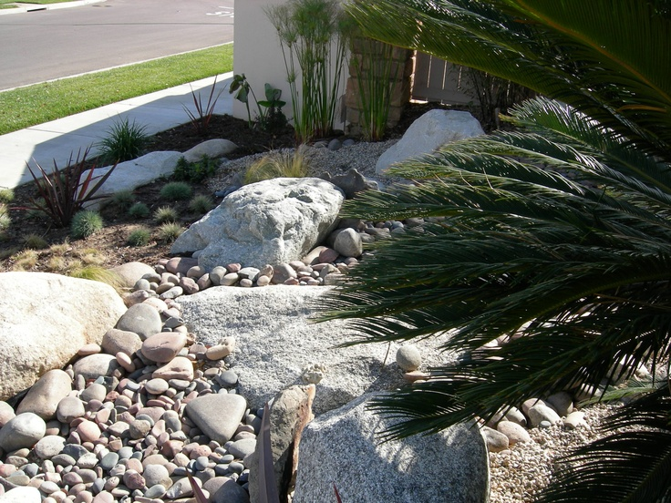 137 best images about boulders grasses on pinterest for Landscaping with rocks and boulders