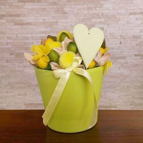 Zöld Szív tavaszi asztaldísz
