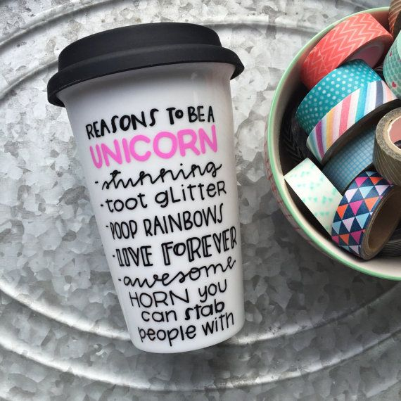 Reasons to be a Unicorn Unicorn Mug Hand by MorningSunshineShop