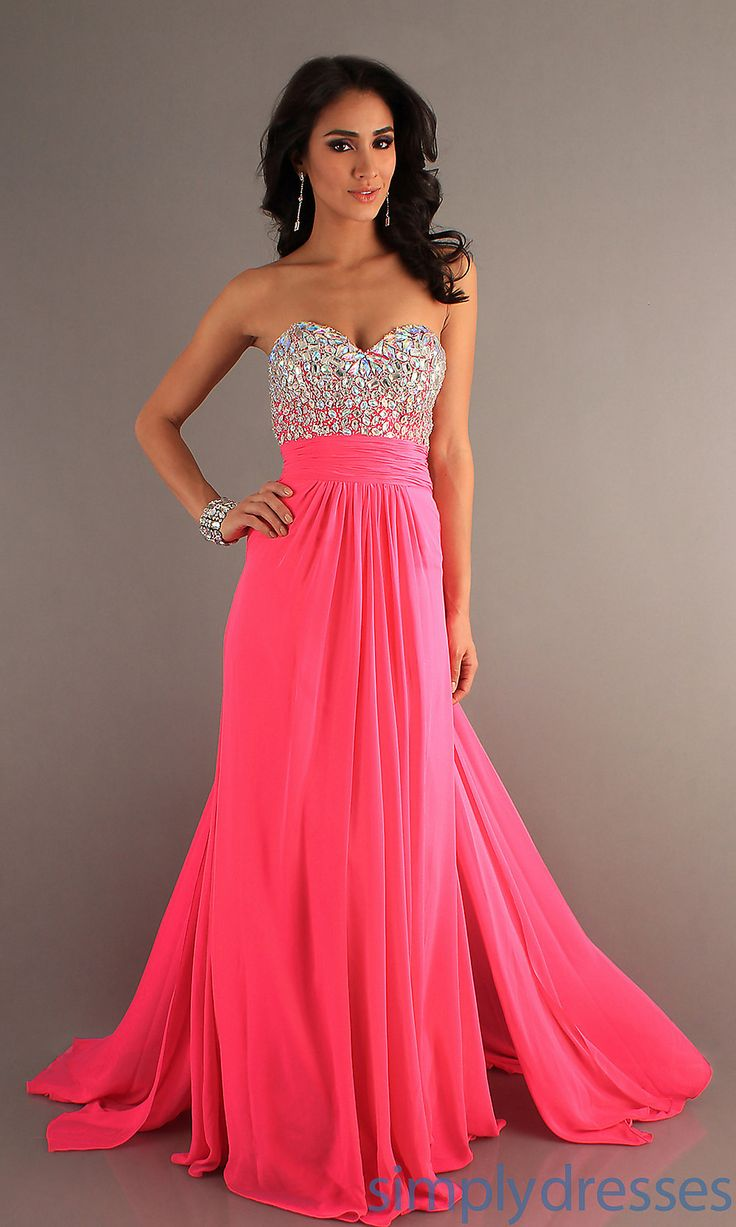 1000  ideas about Long Pink Dresses on Pinterest - Pink prom ...