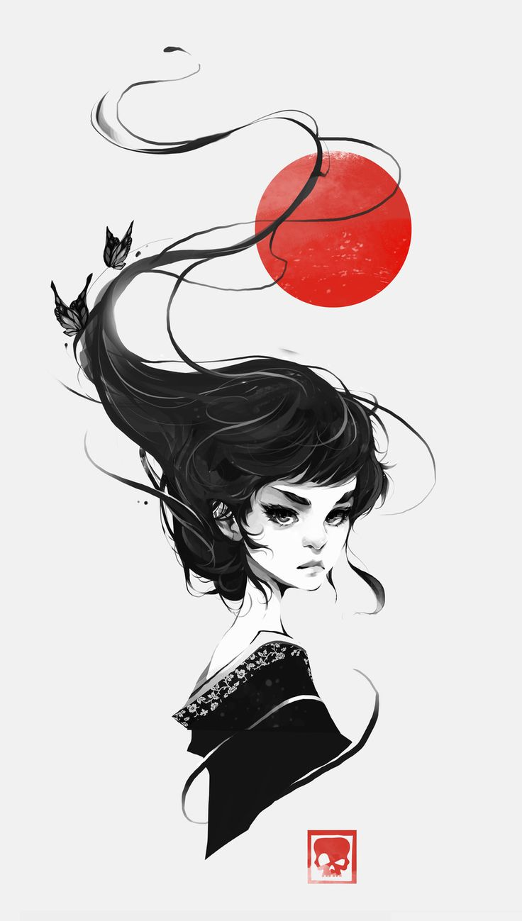 That One Geisha, Vince Ruz on ArtStation at www.artstation.co…