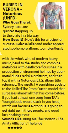 Notorious review in Brissy's Rave Mag