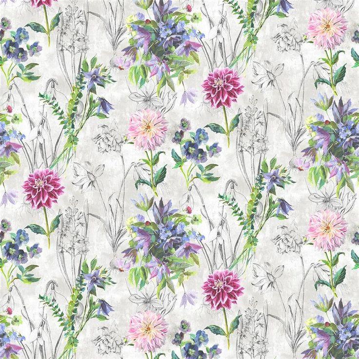 Saunier Peony Fabric | Designers Guild