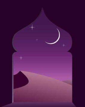 "Amazon.com: Magic Arabian Night - 24""H x 19""W - Peel and Stick Wall Decal by Wallmonkeys: Home & Kitchen"
