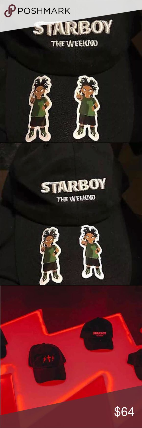 The Weeknd sold out Starboy ceremony hat The Weeknd Starboy Opening Ceremony Pop up shop hat with Two vinyl stickers Opening Ceremony Accessories Hats