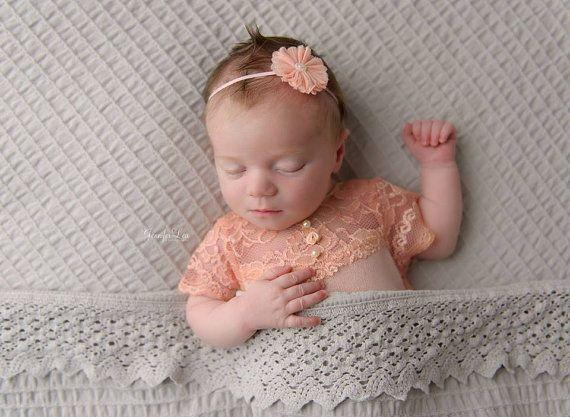 Mameluco del recién nacido cordón Bebé por LovelyBabyPhotoProps