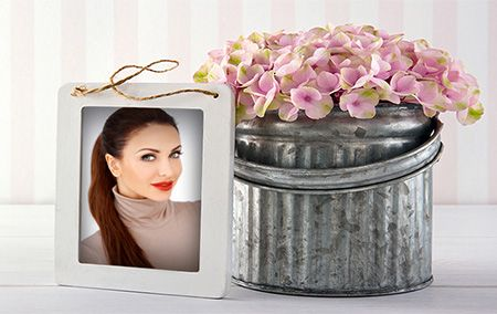 Add Flowers funny photo frame to your picture and download for sharing on the social network of your choice. It is really fun, try it out