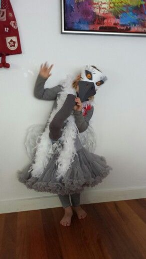 My homemade emu costume -Love how it turned out!