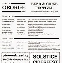 Ciders Available at this weekends Beer and Cider Festival in Christchurch, Dorset