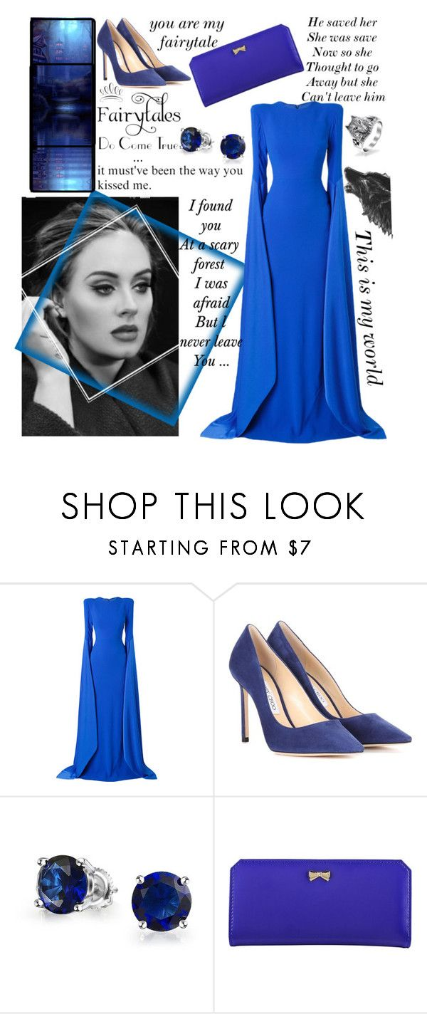 """""""She loved a wolf at her fairytale..."""" by she-fashionlove ❤ liked on Polyvore featuring Alex Perry, WALL, Jimmy Choo, Bling Jewelry and Zodaca"""