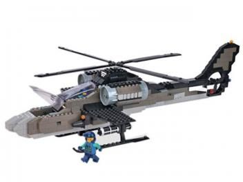 Kit de Blocos Aliança Justiça e Paz Ofensiva - Aérea Beta Helicóptero de Guerra Xalingo 391 Peças