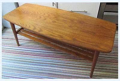 #Vintage retro g-plan #style wooden (oak?) coffee #table, 60's - 70's bs21, View more on the LINK: http://www.zeppy.io/product/gb/2/161975378144/