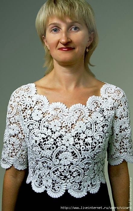 Irish crochet &: Отделка края в изделиях из Ирландского кружева