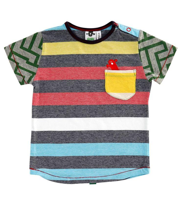 Mason S/S Pocket T Shirt, Oishi-m Clothing for kids, Summer 2015, www.oishi-m.com