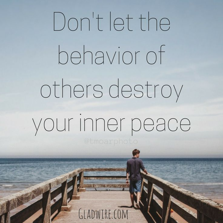 """Don't let the behavior of others destroy your inner peace.""  For more uplifting and motivating quotes, click on the image above!"