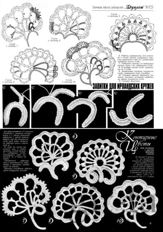 "irish crochet motifs -Gallery.ru / Фото #41 - ""Дуплет"" №125 2011. - git-ta"
