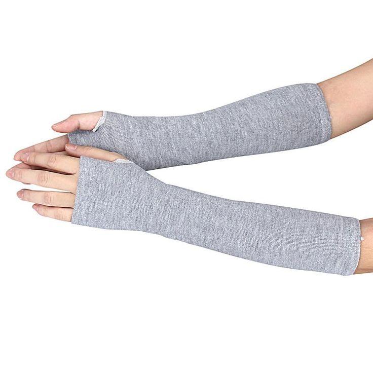 Long Gloves Unisex Knitted Fingerless Gloves Autumn Winter Wrist Arm Hand Warm Gloves Summer Beach Cover Up Luvas Feminina#B920