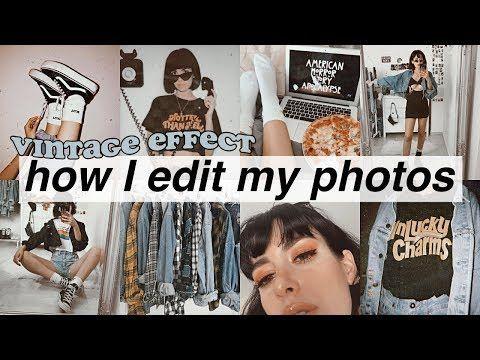 HOW I EDIT MY PHOTOS 🎞 vintage apps - YouTube