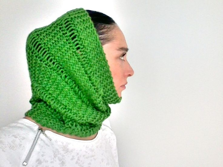 Knit Neck Warmer, Knit Snood, Braided Snood, Head Warmer, Ear Warmer, Winter Neck Warmer, Hand Knit Funnel, Chunky Snood by Chedeliko on Etsy