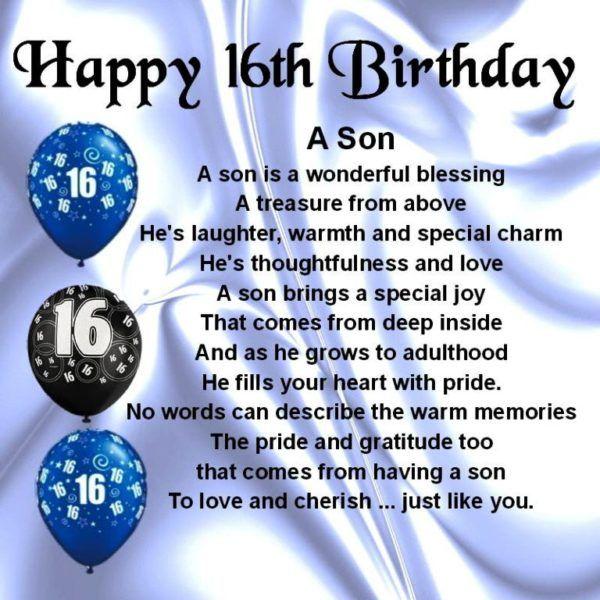 Happy Sixteen Birthday My Son Happy 16th Birthday 16th