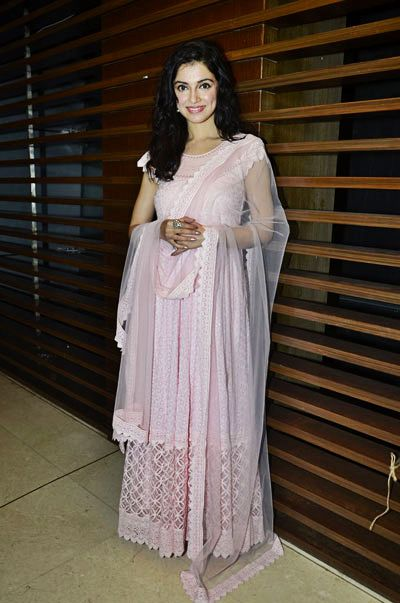 Very girly and cute pink anarkali