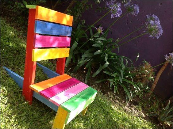 Silla jardinera de madera reciclada ideal para patio - Sillas de patio ...