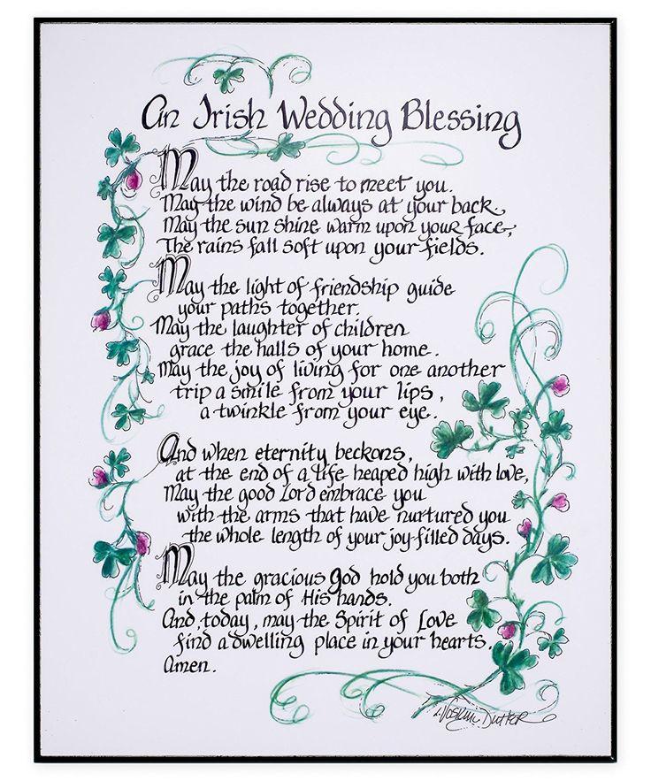 Irish Wedding Gift Ideas: Amazon.com: An Irish Wedding Blessing 11x14 In. Decorative