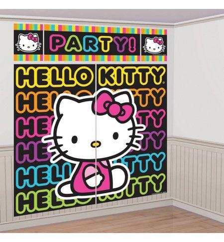 Neon Hello Kitty Party Supplies - Neon Hello Kitty Birthday - Party City