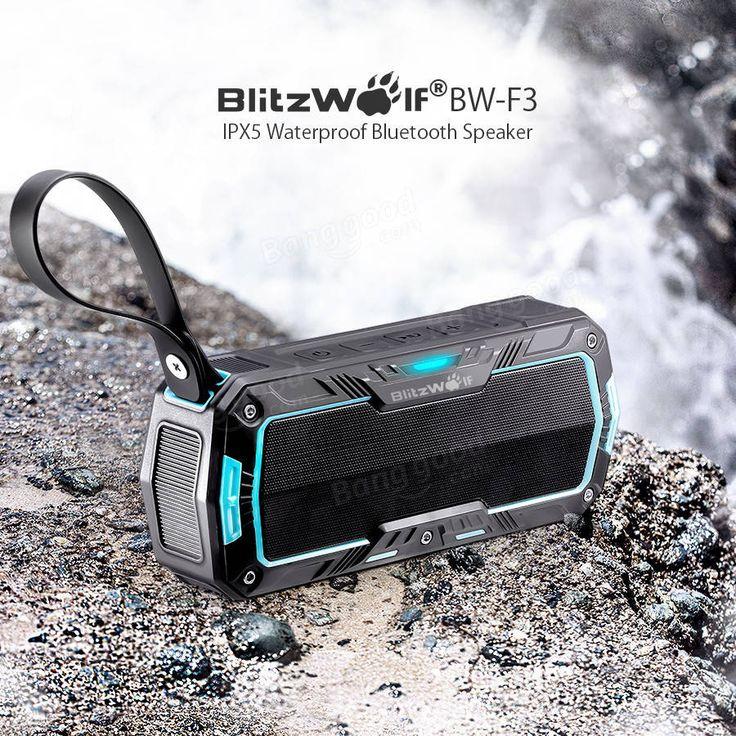BlitzWolf® BW-F3 IPX5 Water Resistant 2*5W Outdooors Sport Bluetooth Speaker