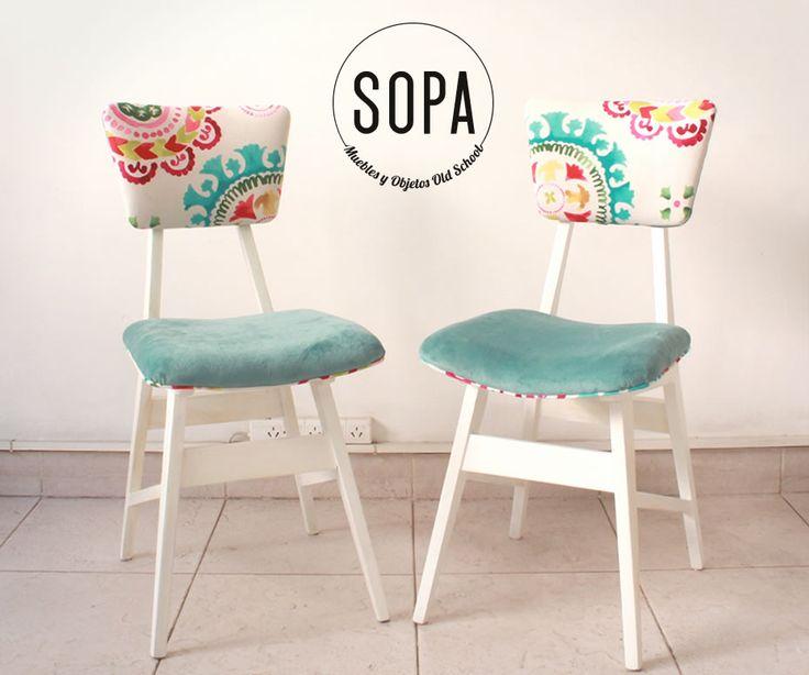 Sillas tapizadas para comedor free silla vintage tapizada for Sillas con apoyabrazos tapizadas