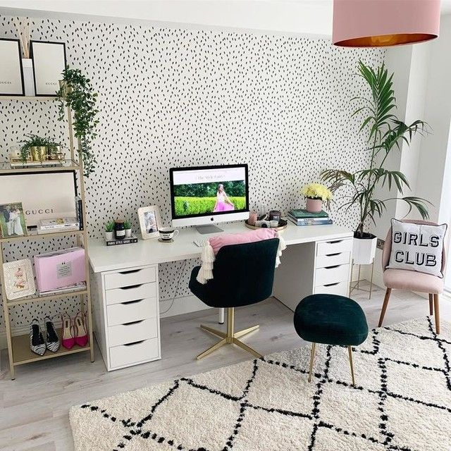 Linnmon Alex White Table 200x60 Cm Ikea Study Room Decor Home Office Design Room Decor